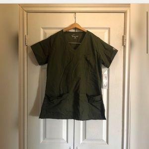 Olive green scrubs set
